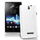 Coque Sony Ericsson Xperia E Dual S-Line Silicone Gel Housse - Blanche