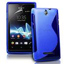 Coque Sony Ericsson Xperia E Dual S-Line Silicone Gel Housse - Bleu