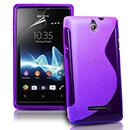 Coque Sony Ericsson Xperia E Dual S-Line Silicone Gel Housse - Pourpre