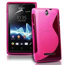 Coque Sony Ericsson Xperia E Dual S-Line Silicone Gel Housse - Rose Chaud