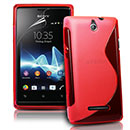 Coque Sony Ericsson Xperia E Dual S-Line Silicone Gel Housse - Rouge
