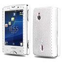 Coque Sony Ericsson Xperia Mini Pro SK17i Filet Plastique Etui Rigide - Blanche