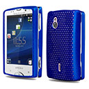 Coque Sony Ericsson Xperia Mini Pro SK17i Filet Plastique Etui Rigide - Bleu