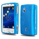 Coque Sony Ericsson Xperia Mini Pro SK17i Filet Plastique Etui Rigide - Bleue Ciel