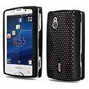 Coque Sony Ericsson Xperia Mini Pro SK17i Filet Plastique Etui Rigide - Noire