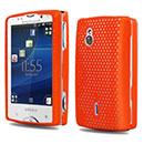 Coque Sony Ericsson Xperia Mini Pro SK17i Filet Plastique Etui Rigide - Orange