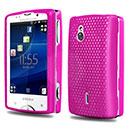 Coque Sony Ericsson Xperia Mini Pro SK17i Filet Plastique Etui Rigide - Rose Chaud