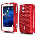 Coque Sony Ericsson Xperia Mini Pro SK17i Filet Plastique Etui Rigide - Rouge