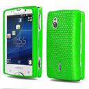 Coque Sony Ericsson Xperia Mini Pro SK17i Filet Plastique Etui Rigide - Verte