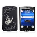 Coque Sony Ericsson Xperia Mini ST15i Papillon Plastique Etui Rigide - Noire