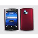 Coque Sony Ericsson Xperia Mini ST15i Plastique Etui Rigide - Rouge