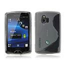 Coque Sony Ericsson Xperia Mini ST15i S-Line Silicone Gel Housse - Blanche