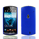 Coque Sony Ericsson Xperia Neo MT15i MT11i Filet Plastique Etui Rigide - Bleu