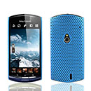 Coque Sony Ericsson Xperia Neo MT15i MT11i Filet Plastique Etui Rigide - Bleue Ciel