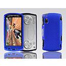 Coque Sony Ericsson Xperia Play Z1i Filet Plastique Etui Rigide - Bleu