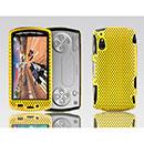 Coque Sony Ericsson Xperia Play Z1i Filet Plastique Etui Rigide - Jaune