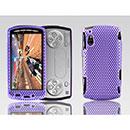 Coque Sony Ericsson Xperia Play Z1i Filet Plastique Etui Rigide - Pourpre