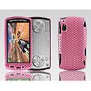 Coque Sony Ericsson Xperia Play Z1i Filet Plastique Etui Rigide - Rose