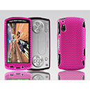 Coque Sony Ericsson Xperia Play Z1i Filet Plastique Etui Rigide - Rose Chaud