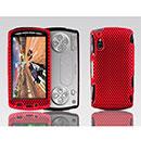 Coque Sony Ericsson Xperia Play Z1i Filet Plastique Etui Rigide - Rouge