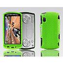 Coque Sony Ericsson Xperia Play Z1i Filet Plastique Etui Rigide - Verte