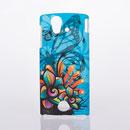 Coque Sony Ericsson Xperia ray ST18i Papillon Plastique Etui - Bleu