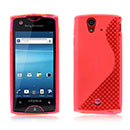 Coque Sony Ericsson Xperia ray ST18i S-Line Silicone Gel Housse - Rouge