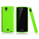 Coque Sony Ericsson Xperia ray ST18i Silicone Gel Housse - Verte