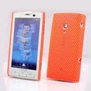 Coque Sony Ericsson Xperia X10 X10i Filet Plastique Etui Rigide - Orange