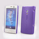 Coque Sony Ericsson Xperia X10 X10i Filet Plastique Etui Rigide - Pourpre