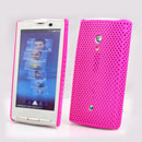 Coque Sony Ericsson Xperia X10 X10i Filet Plastique Etui Rigide - Rose Chaud