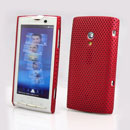 Coque Sony Ericsson Xperia X10 X10i Filet Plastique Etui Rigide - Rouge