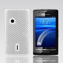 Coque Sony Ericsson Xperia X8 E15i Filet Plastique Etui Rigide - Blanche