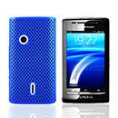 Coque Sony Ericsson Xperia X8 E15i Filet Plastique Etui Rigide - Bleu