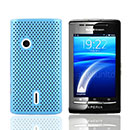 Coque Sony Ericsson Xperia X8 E15i Filet Plastique Etui Rigide - Bleue Ciel