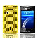 Coque Sony Ericsson Xperia X8 E15i Filet Plastique Etui Rigide - Jaune