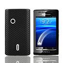 Coque Sony Ericsson Xperia X8 E15i Filet Plastique Etui Rigide - Noire