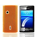Coque Sony Ericsson Xperia X8 E15i Filet Plastique Etui Rigide - Orange