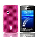 Coque Sony Ericsson Xperia X8 E15i Filet Plastique Etui Rigide - Rose Chaud