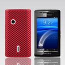 Coque Sony Ericsson Xperia X8 E15i Filet Plastique Etui Rigide - Rouge