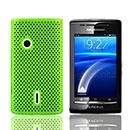 Coque Sony Ericsson Xperia X8 E15i Filet Plastique Etui Rigide - Verte