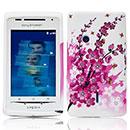 Coque Sony Ericsson Xperia X8 E15i Fleurs Silicone Housse Gel - Rose