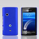 Coque Sony Ericsson Xperia X8 E15i Plastique Etui Rigide - Bleu