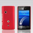 Coque Sony Ericsson Xperia X8 E15i Plastique Etui Rigide - Rouge