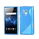 Coque Sony Xperia Acro S LT26w S-Line Silicone Gel Housse - Bleue Ciel