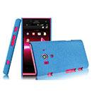 Coque Sony Xperia Acro S LT26w Sables Mouvants Etui Rigide - Bleu
