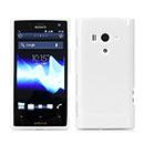Coque Sony Xperia Acro S LT26w Silicone Gel Housse - Blanche