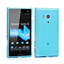 Coque Sony Xperia Acro S LT26w Silicone Transparent Housse - Bleue Ciel
