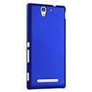 Coque Sony Xperia C3 Plastique Etui Rigide - Bleu