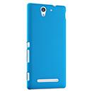 Coque Sony Xperia C3 Plastique Etui Rigide - Bleue Ciel